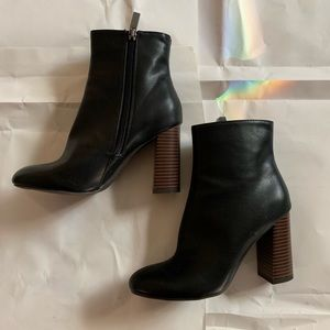 Shoes - NWOT Black Faux Leather Booties